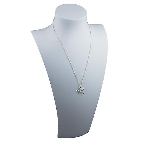Silver 19x19mm Starfish Pendant with a rolo Chain 16 inches Only Suitable for Children