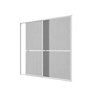 Double sliding door fly screen door Kit insect protection 240 x 240 cm anthracite