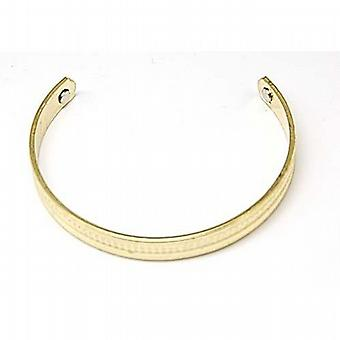 Bio Magnetic Goldtone Engraved Open Bangle