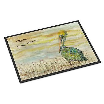 Carolines Treasures  SC2024MAT Pelican Yellow Sky Indoor or Outdoor Mat 18x27