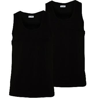 Dolce & Gabbana 2-Pack Day-By-Day Tank Top Vests, Black