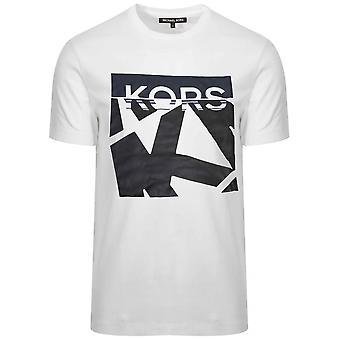 Michael Kors  Michael Kors White Printed Logo T-Shirt