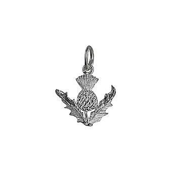 قلادة الشوك سكوتيش الفضة 15 ملم أو سحر