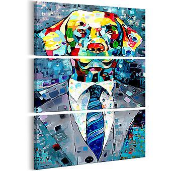Wandbild - Dog in a Suit (3 Parts)