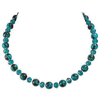 Eterna colección regencia Teal Carey cristal checo collar de abalorios