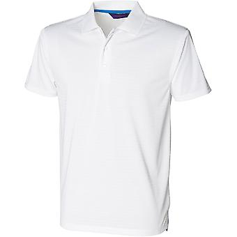 Henbury - Mens Cooltouch® Textured Stripe Polo