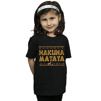 Disney Mädchen Die Löwen König Hakuna Matata T-Shirt