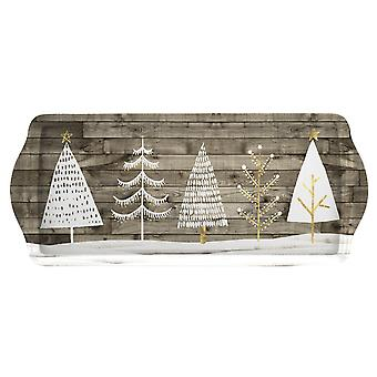 Pimpernel Wooden White Christmas Sandwich Tray