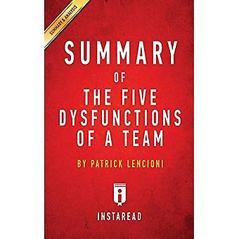 Samenvatting van de vijf disfuncties van een team: door Patrick Lencioni omvat analyse