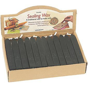 Traditional Seal Wax Sticks with Wick Black 760Blk