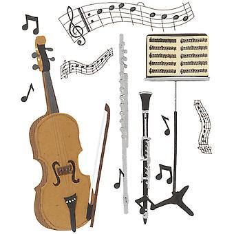 Jolee's Boutique Dimensional Stickers Musical Trio Spjb 087