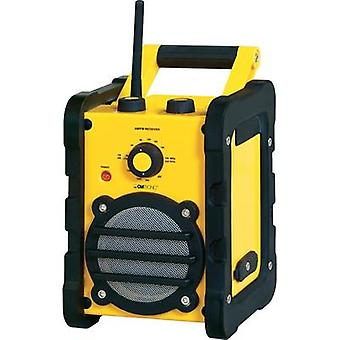 Clatronic BR 816 Outdoor / Construction Site Radio, Yellow, Black