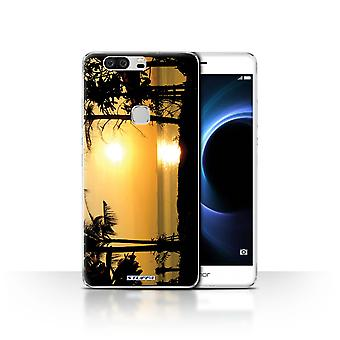STUFF4/Housse pour Huawei Honor V8/Tropical arbres/Sunset paysages