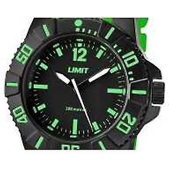 Limit Mens Active Green Strap Black Dial 5548 Watch
