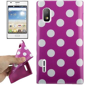 Protective case TPU points of case for mobile LG Optimus L5 / E610