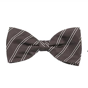 View fly silk silk bow tie loop tie striped black 11 x 6 cm