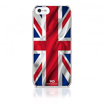 White DIAMONDS Shell iPhone 5/5s/SEE Flag UK