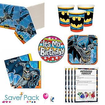 Batman the Brave party tableware saver pack