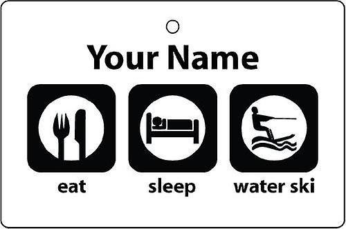 Personalised Eat Sleep Water Skiing Car Air Freshener
