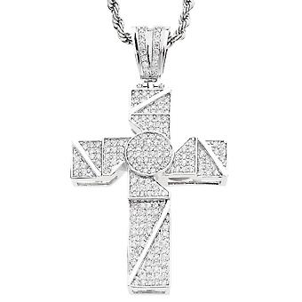 Iced out bling MICRO PAVE pendants - HUSTLER cross