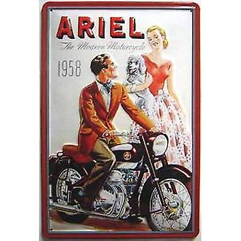 Ariel Modern Motorcycle 1958 embossed steel sign   300mm x 200mm (hi)