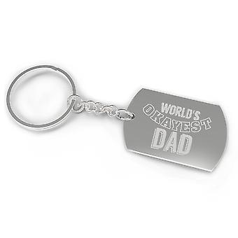 World's Okayest Dad Funny Cool Dad Gifts Humorous Gifts For Father