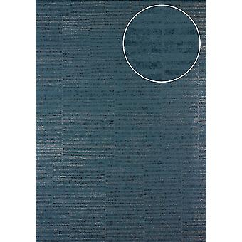 Stripes Atlas 24C-5056-1 non-woven wallpaper smooth with graphic patterns and metallic effect blue blue gray granite-gray silver 7,035 m2