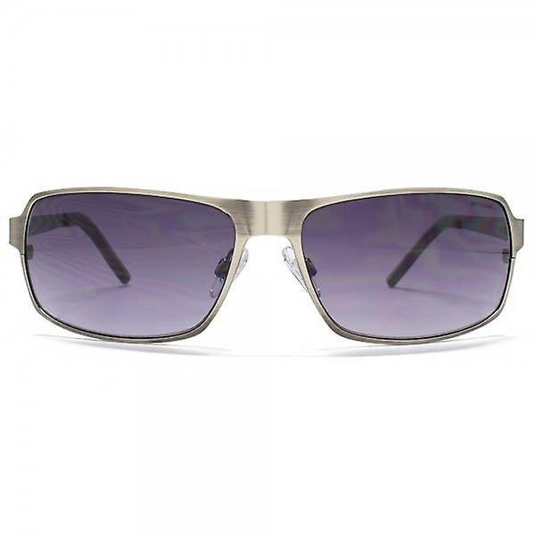 Animal Edge Flatsheet Metal Wrap Sunglasses In Matte Gunmetal