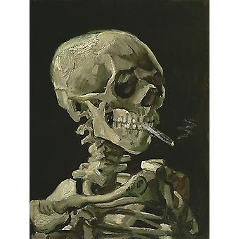 Vincent Van Gogh - Skull with Burning Cigarette, 1885 Poster Print Giclee