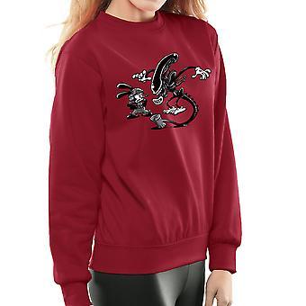 Oswald the Lucky Rabbit Vs Alien Women's Sweatshirt