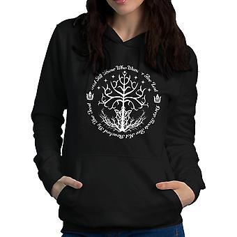 Lord Of The Rings White Tree Of Hope Women's Hooded Sweatshirt