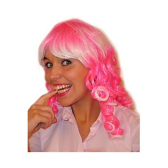 Wigs  Pink curled wig