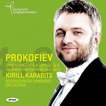 Prokofiev, S. / Karabits, Kirill - symfonier 4 - nr. 4 & 6 - symfoni i G (1902) [CD] USA import