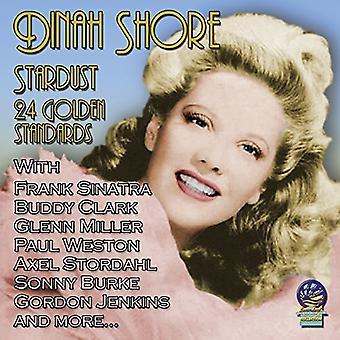 Dinah Shore - Stardust: 24 gyldne standarder [CD] USA importerer