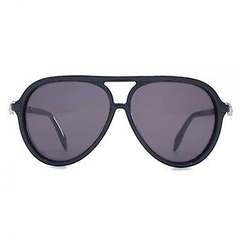 Alexander McQueen Iconic Skull Acetate Pilot Sunglasses In Black
