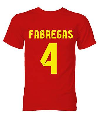 T-shirt Barcelone Cesc Fabregas Hero (Red)