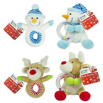 Plush Rattle Set Baby Christmas Toys Reindeer Toddler Soft Toy Baby Toy Teething