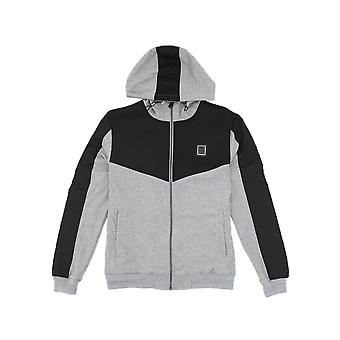 Born Rich Smithsonite Zip Grey Marl Hoodie