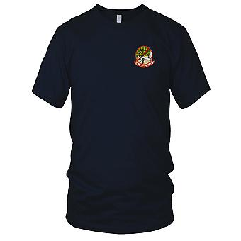 USMC MABS-16 - Marine Aircraft Group - Military Insignia Vietnam War Embroidered Patch - Mens T Shirt
