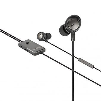 Sweex Headset ANC (Active Noise Cancelling) In-ear 3.5 mm vast inline mic 120 cm antraciet/zwart