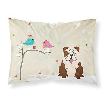Christmas Presents between Friends English Bulldog Brindle White Fabric Standard