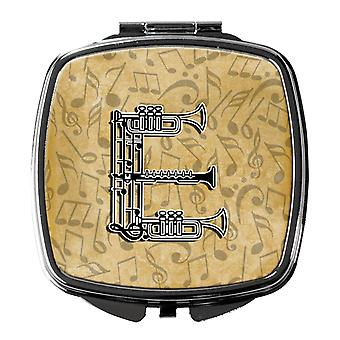 Letter E Musical Instrument Alphabet Compact Mirror