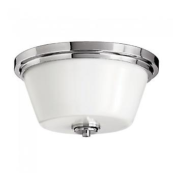 HK/AVON/F BATH Avon 2 Light Bathroom Polished Chrome Flush Mount  Ligh