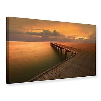 Canvas Print The Footbridge  By The Sea