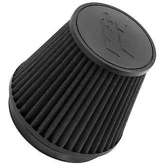 K&N RU-3102HBK Universal Clamp-On Air Filter: Round Tapered; 6 in (152 mm) Flange ID; 6 in (152 mm) Height; 7.5 in (191