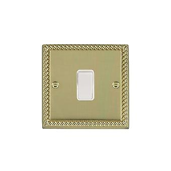 Hamilton Litestat Cheriton Georgian Polished Brass 1g 10AX 2 Way Rkr WH/WH