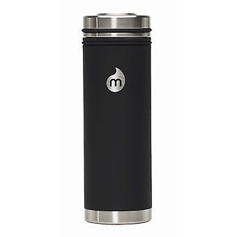 Mizu V7 Stainless Steel Bottle With Steel Lid - Enduro Black