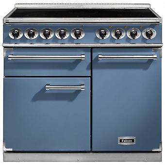 FALCON F1000DXEICA/N 100120 - 100cm Deluxe Induction Range Cooker, Blu