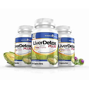 LiverDetox Plus with VitaCholine™ for Liver Health - 3 Month Supply (180 Capsules) - Liver Health and Detox - Evolution Slimming