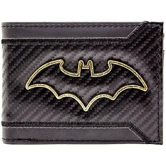 DC Batman Gold Outline Badge ID & Card Bi-Fold Wallet